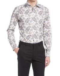 Eton Slim Fit Paisley Button Up Dress Shirt