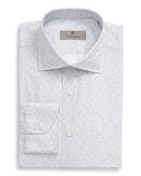 Canali Trim Fit Paisley Dress Shirt