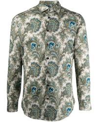 Etro Paisley Print Cotton Shirt