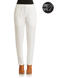 Lord & Taylor Linen Drawstring Pants