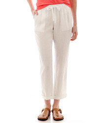 jcpenney Stylus Stylus Linen Drawstring Cropped Pants
