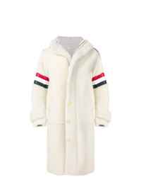 Thom Browne Articulated Dyed Shearling Hooded Parka