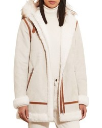 Lauren Ralph Lauren Faux Shearling Parka With Faux Fur