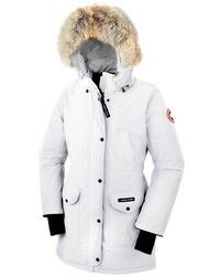 Canada Goose Trillium Regular Fit Down Parka With Genuine Coyote Fur Trim