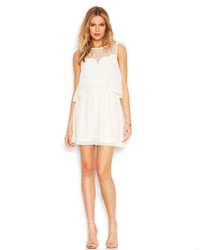 BCBGeneration Illusion Lace Popover Dress