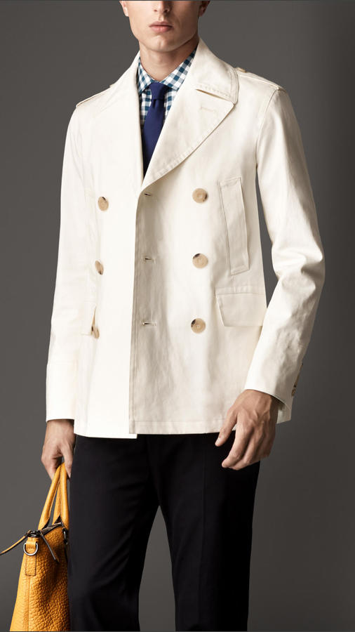 Burberry Bonded Cotton Pea Coat | Where to buy & how to wear
