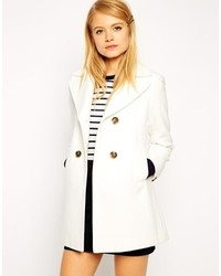 Asos Collection Pea Coat With Vintage Detail In Swing