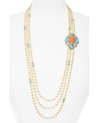 Ben-Amun Adriatic Sea Multisrand Imitation Pearl Necklace