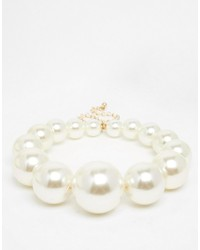 Asos Collection Faux Pearl Chunky Choker Necklace