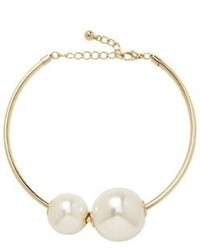 Express Oversized Pearl Collar Necklace