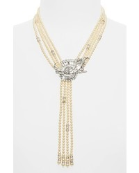 Ben-Amun Faux Pearl Tassel Y Necklace