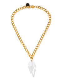 Sirconstance Gold Plated Crystal Necklace