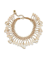 Rosantica Gold Tone Bead And Shell Necklace