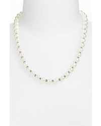Lagos luna pearl strand necklace silver pearl medium 385845