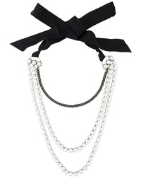 Lanvin Multi Strand Pearl Necklace