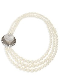 Miu Miu Multistrand Imitation Pearl Necklace