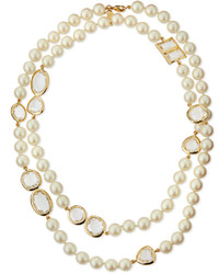 Kate Spade New York Faux Pearl Crystal Necklace