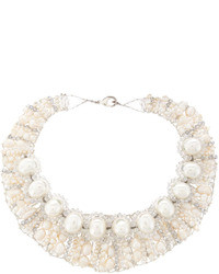 Mother of Pearl Panacea Mother Of Pearl And Crystal Collar Necklace