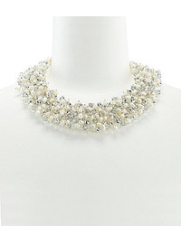 Panacea Pearl And Crystal Collar Necklace