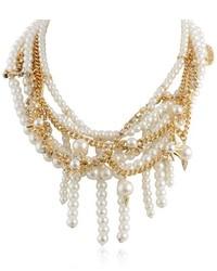 Sam Edelman Pearl Chain Collar Necklace 16