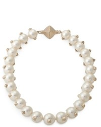 Valentino Pearl Necklace With Studs