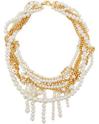 Sam Edelman Pearly Punk Pearl Chain Collar Necklace