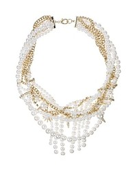 Sam Edelman Faux Pearl And Chain Statet Necklace 16