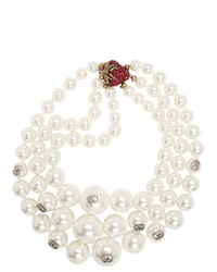 Gucci White Pearl Necklace