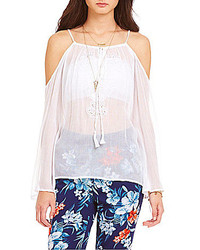 Jessica Simpson Chase Cold Shoulder Peasant Top