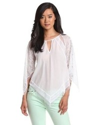 BCBGMAXAZRIA Elyza Lace Blocked Top