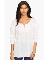 Lauren Ralph Lauren Embroidered Cotton Peasant Top