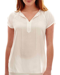 829ac653790093 Women's White Peasant Blouses from jcpenney   Women's Fashion ...