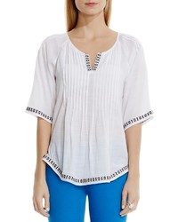Vince Camuto Two By Embroidered Peasant Blouse