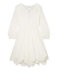 Apiece Apart Vereda Broderie Anglaise Cotton Voile Mini Dress