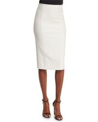 Alice + Olivia Jarrett Seamed Pencil Skirt White