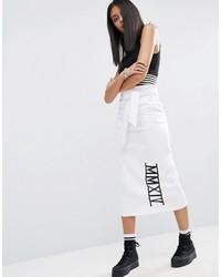 Asos Sweat Pencil Skirt With Slogan Detail