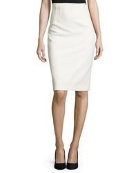 Elie Tahari Beatrice Pencil Skirt White