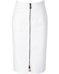 Belstaff White Cotton Harrow Pencil Skirt