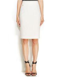 Calvin Klein Cotton Blend Pencil Skirt