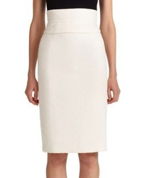 Carolina Herrera High Waist Pencil Skirt