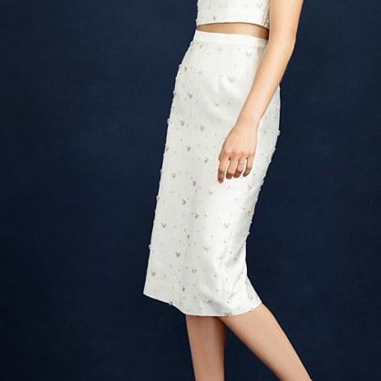 38a525397f J.Crew Collection Beaded Pencil Skirt, $650 | J.Crew | Lookastic.com