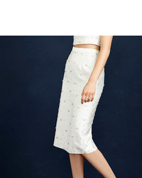 J.Crew Collection Beaded Pencil Skirt