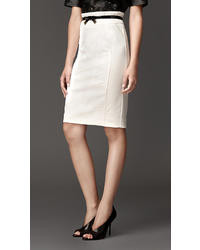 Burberry Compact Jersey High Waist Pencil Skirt