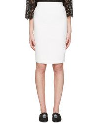 Alexander McQueen Ivory Pencil Skirt