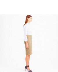 J.Crew Pencil Skirt In Stretch Cotton
