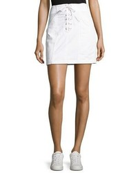 A.L.C. Kylie Laced Front Cotton Mini Skirt