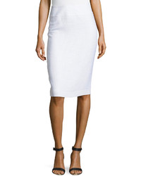 Lafayette 148 New York Long Pencil Skirt White