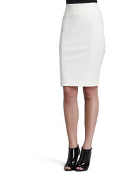 Burberry London Jersey Back Zip Pencil Skirt