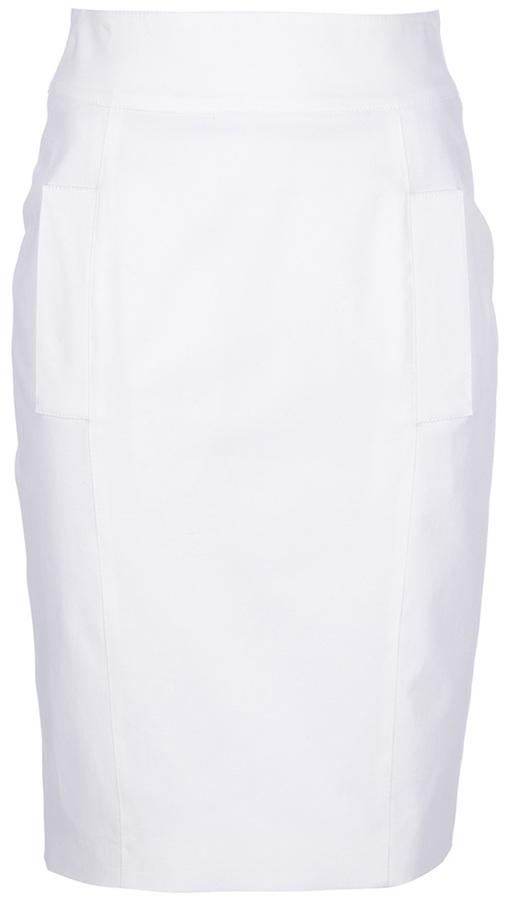 Burberry London Pocket Detail Pencil Skirt