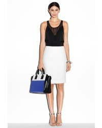 Milly Honeycomb Knit Pencil Skirt